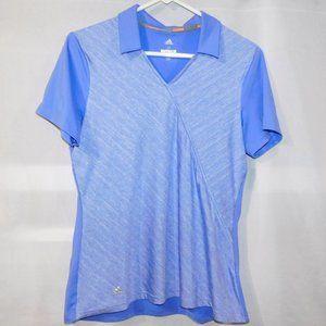 Adidas Golf Womens M Purple Periwinkle Polo Shirt